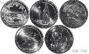 2013 National Park Quarters Complete Set Denver (D) Mint  Uncirculated (5 Coins) NH, OH, NV, MD, SD