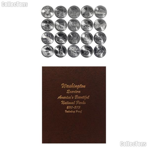 National Park Quarter Complete Set 2010-2014 P, D, S Proof, and S Silver Proof Quarters (100 Coins) in Dansco Album 8146