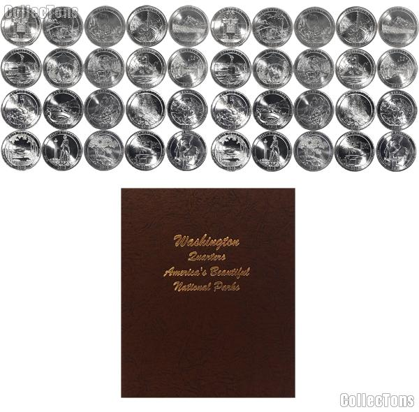 National Park Quarter Complete Set 2010-2013 P & D Quarters (40 Coins) in Dansco Album 7145