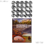 National Park Quarter Complete Set 2010-2014 (25 Coins) with Littleton Map