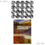 National Park Quarter Complete Set 2010-2014 (25 Coins) with Littleton Deluxe Folder