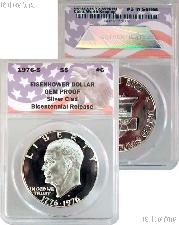 CollecTons Keepers #6: 1976-S Eisenhower Bicentennial Proof Silver Dollar Certified in Exclusive ANACS Gem Proof Holder