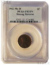 1922 NO D Strong Reverse Lincoln Wheat Cent KEY DATE in PCGS F 12 BN (Brown)
