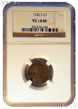 1915-S Lincoln Wheat Cent KEY DATE in NGC VG 10 BN (Brown)