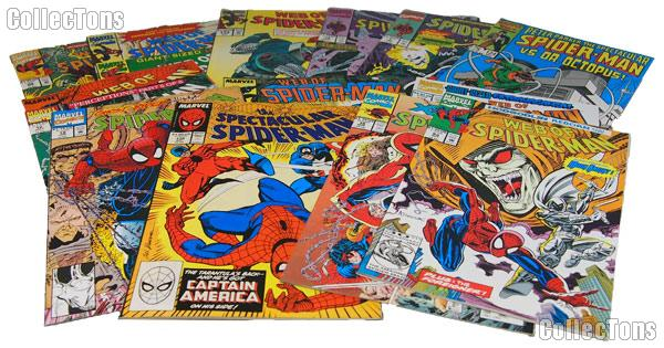SPIDERMAN Comic Books Bundle of 12 Different Titles from SPIDERMAN Franchise