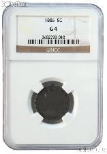1886 Liberty Head V Nickel KEY DATE in NGC G 4
