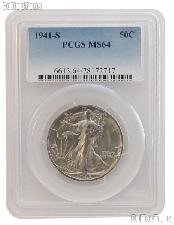 1941-S Walking Liberty Half Dollar in PCGS MS 64