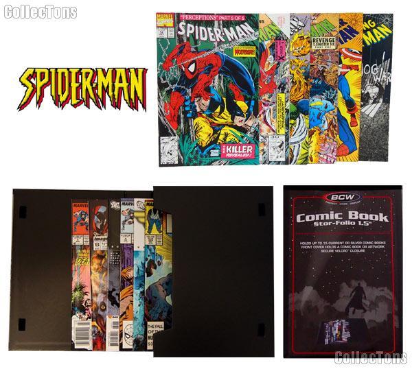 SPIDERMAN Comic Book Collecting Starter Set Kit with Stor-Folio Portfolio and Comics