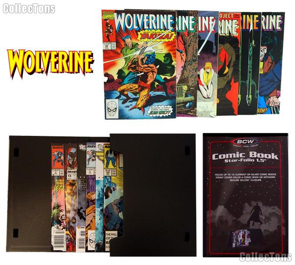 WOLVERINE Comic Book Collecting Starter Set Kit with Stor-Folio Portfolio and Comics