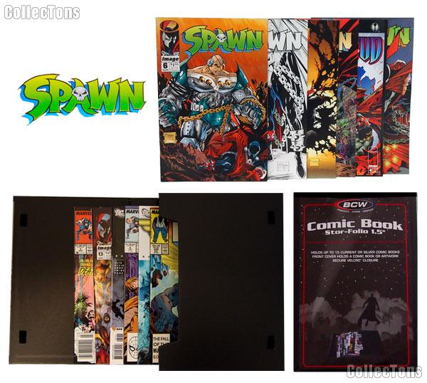 SPAWN Comic Book Collecting Starter Set Kit with Stor-Folio Portfolio and Comics
