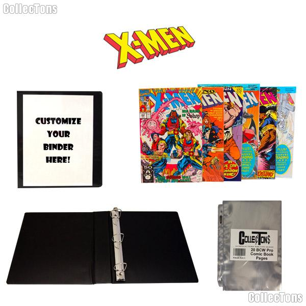 X-MEN Comic Book Collecting Starter Set Kit with Binder, Pages, and Comics