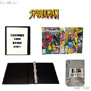 SPIDERMAN Comic Book Collecting Starter Set Kit with Binder, Pages, and Comics