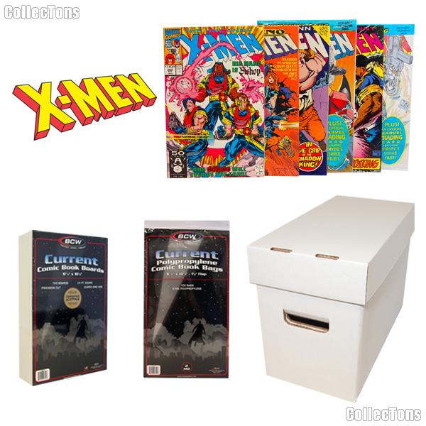 X-MEN Comic Book Collecting Starter Set Kit with Box, Boards, Bags, and Comics