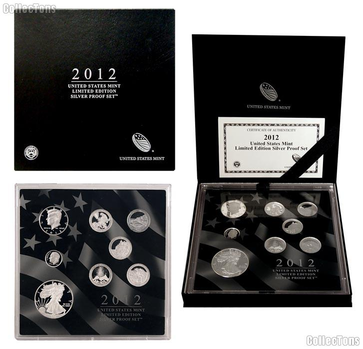 2012 LIMITED EDITION SILVER PROOF SET * 8 Coin U.S. Mint Proof Set