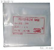 100 Pack of Poly Bags 3x3 2mil - Polyethylene Envelopes