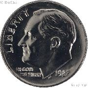 1982 NO MINTMARK Rare Mint Error Roosevelt Dime Gem BU (Brilliant Uncirculated)