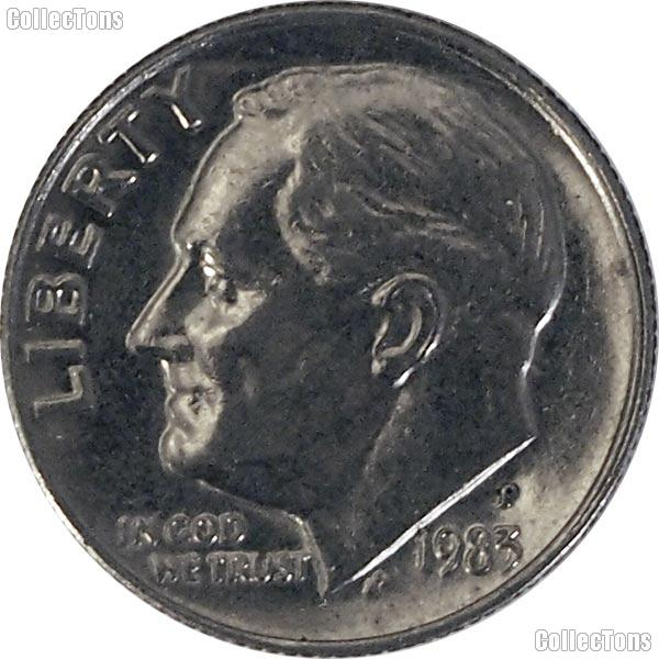 1983-P Roosevelt Dime Circulated Coin Good or Better