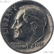 1982-P Roosevelt Dime Circulated Coin Good or Better