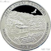 2014-S Tennessee Great Smoky Mountains National Park Quarter GEM SILVER PROOF America the Beautiful