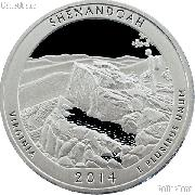 2014-S Virginia Shenandoah National Park Quarter GEM SILVER PROOF America the Beautiful