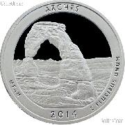 2014-S Utah Arches National Park Quarter GEM SILVER PROOF America the Beautiful