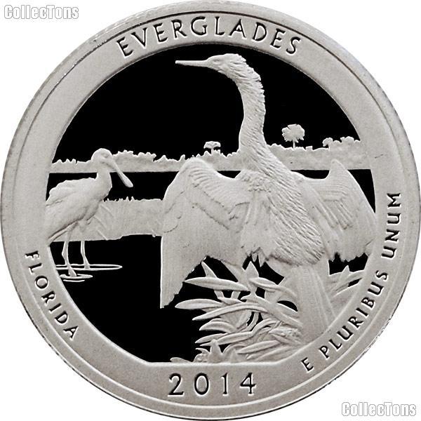 2014-S Florida Everglades National Park Quarter GEM SILVER PROOF America the Beautiful