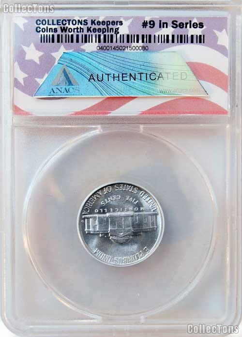 CollecTons Keepers #9: 1950-D Jefferson Nickel Certified in Exclusive ANACS Brilliant Uncirculated Holder