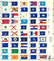 1976 Fifty State Flags 13 Cent US Postage Stamp MNH Sheet of 50 Scott #1633 - #1682