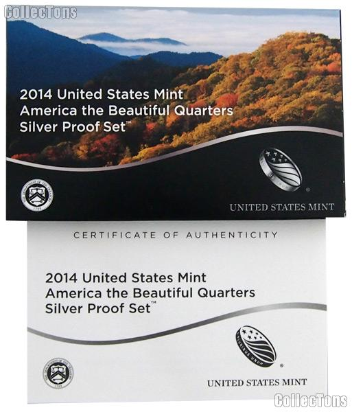 2014 SILVER QUARTER PROOF SET OGP Replacement Box and COA
