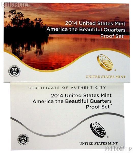 2014 U.S. Mint QUARTER Proof Set OGP Replacement Box and COA