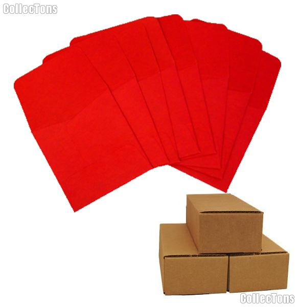 500 2x2 Red Paper Coin Envelopes for Cents