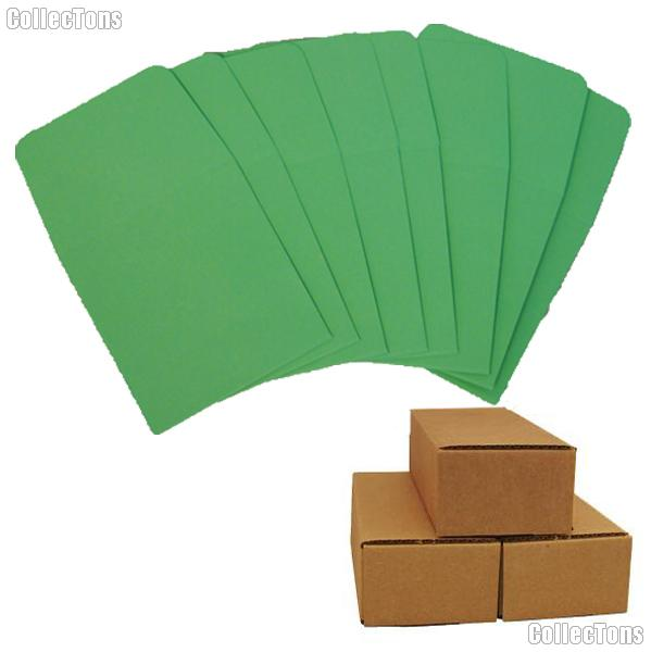 500 2x2 Green Paper Coin Envelopes for Dimes