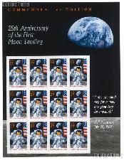 1994 Moon Landing 25th Anniversary 29 Cent US Postage Stamp MNH Sheet of 12 Scott #2841