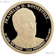 2014-S Franklin D. Roosevelt Presidential Dollar GEM PROOF Coin