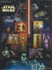 2007 Star Wars 41 Cent US Postage Stamp Unused Sheet of 15 Scott #4143