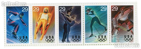 1994 Winter Olympics 29 Cent US Postage Stamp MN Sheet of 20 Scott #2807 - #2811