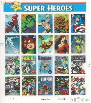 2007 United States Marvel Comics 41 Cent US Postage Stamp Unused Sheet of 20 Scott #4159