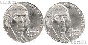 2014 P & D Jefferson Nickels Gem BU (Brilliant Uncirculated)