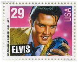 1993 Legends of American Music Series - Elvis Presley 29 Cent US Postage Stamp MNH Sheet of 40 Scott #2721