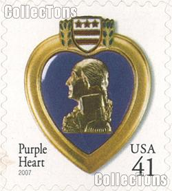 2007 United States Purple Heart 41 Cent US Postage Stamp Unused Sheet of 20 Scott #4164