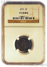 1872 Indian Head Cent KEY DATE in NGC VG 10 BN (Brown)