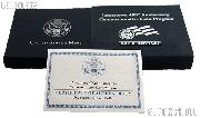 2007-P Jamestown 400th Anniversary Commemorative Uncirculated Silver Dollar OGP Replacement Box and COA