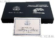 2007-P Jamestown 400th Anniversary Commemorative Proof Silver Dollar OGP Replacement Box and COA