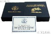 2007-W Jamestown 400th Anniversary Commemorative Proof Gold Five Dollar OGP Replacement Box and COA