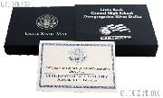 2007-P Little Rock Central High School Desegregation Commemorative Uncirculated Silver Dollar OGP Replacement Box and COA