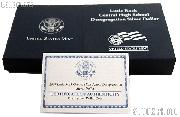 2007-S Little Rock Central High School Desegregation Commemorative Proof Silver Dollar OGP Replacement Box and COA