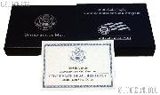2008-S Bald Eagle Commemorative Uncirculated Silver Dollar OGP Replacement Box and COA