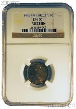 1909-S/S Lincoln Wheat Cent KEY DATE in NGC AU 58 BN (Brown)