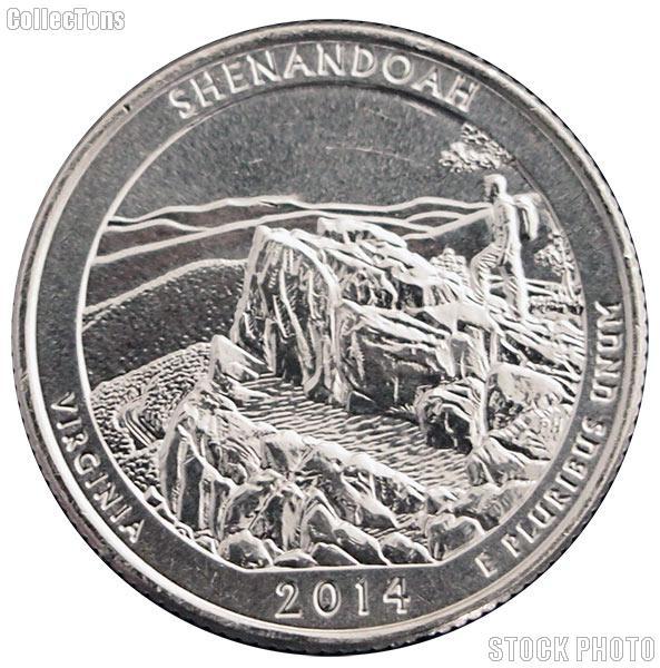 2014-S Virginia Shenandoah National Park Quarter GEM BU America the Beautiful