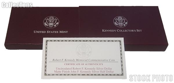 1998 Robert F. Kennedy Memorial Commemorative Uncirculated Two-Coin Set OGP Replacement Box and COA